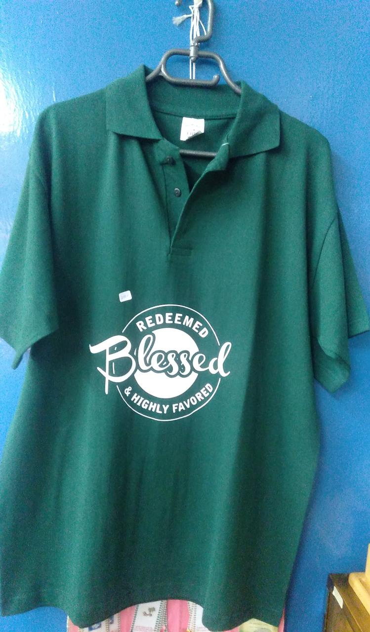 Polo Shirts Green (Scripture themed)