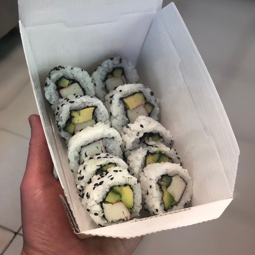 California Rolls in a box from Minato Sushi