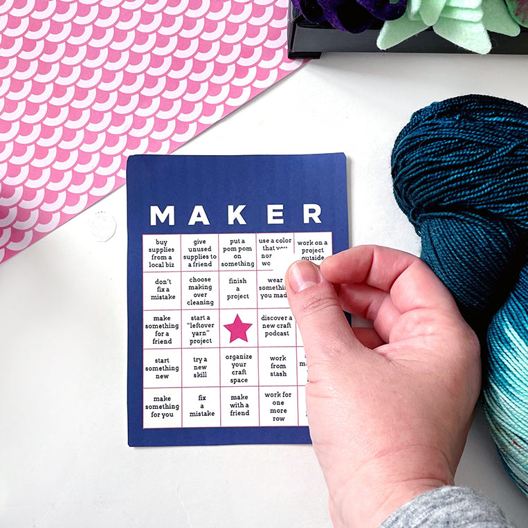 Be Inspired With Maker's Bingo Cards