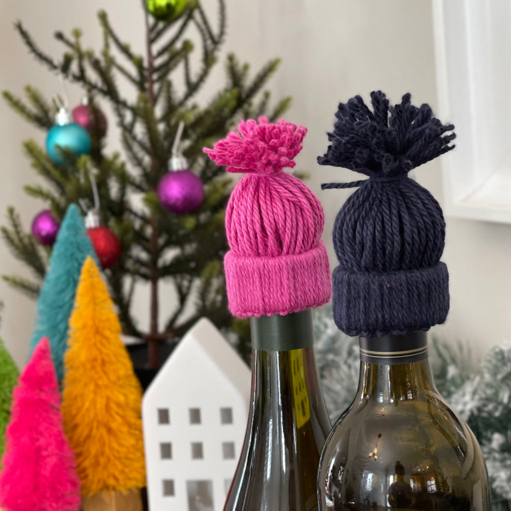 Make a No-Knit Wine Bottle Topper Hat