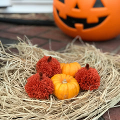 How to make pom pom pumpkins