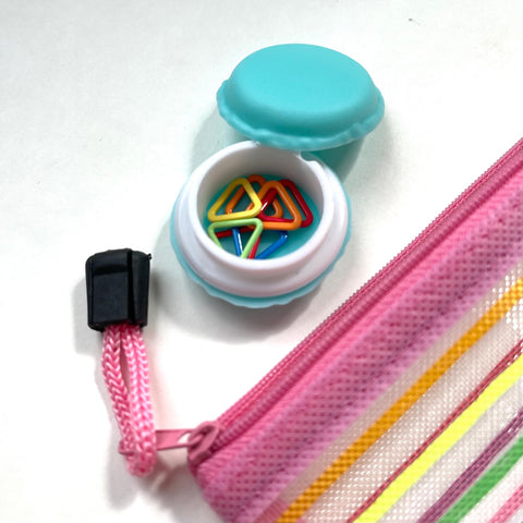 Keep an emergency stash of stitch markers in your bag to help yourself or a fellow knitter
