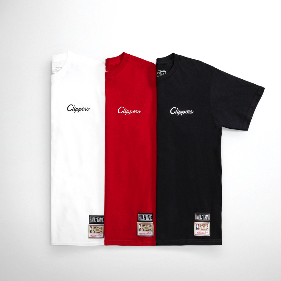 Script Tee Clippers Red