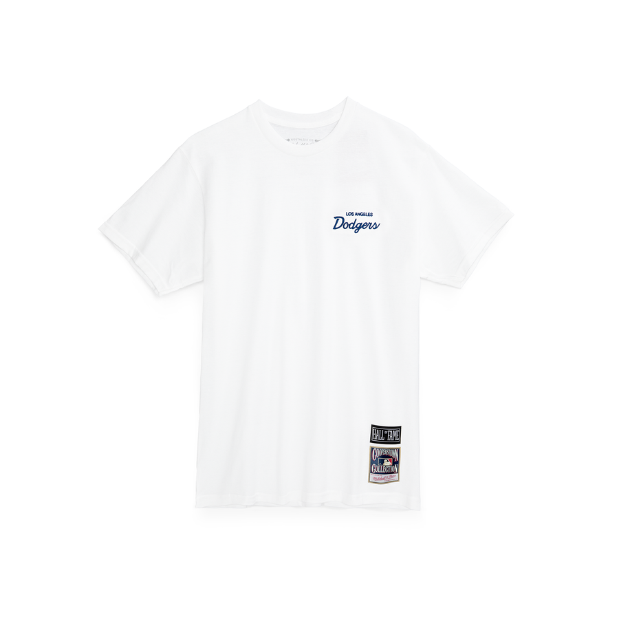 Script Tee Dodgers White