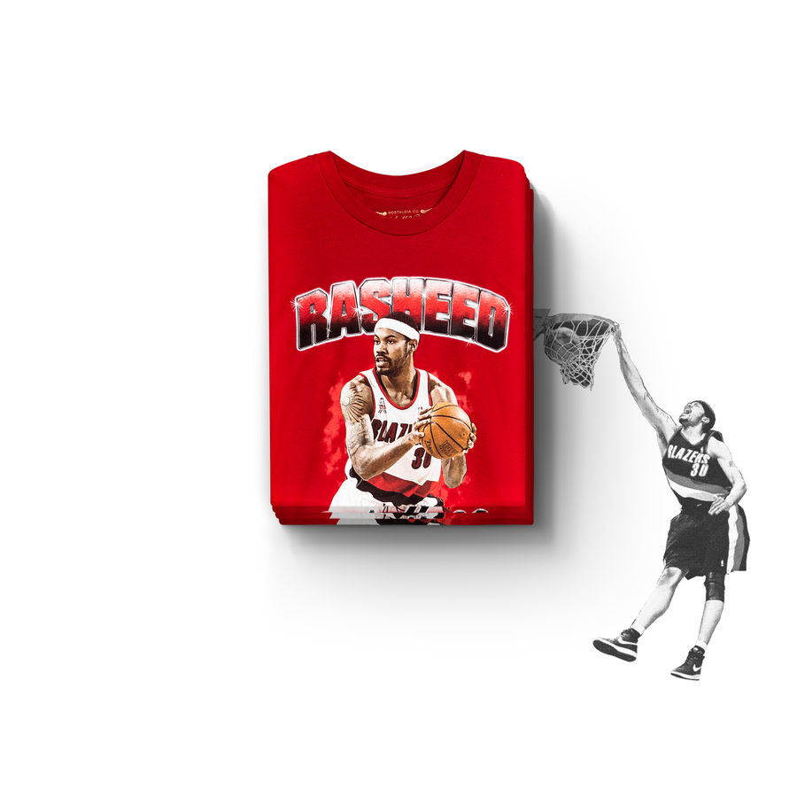Player Tee Rasheed Wallace Red