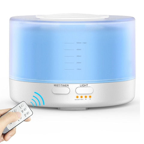 Remote Control Ultrasonic Air Aromatherapy Essential Oil Diffuser Simple Creations