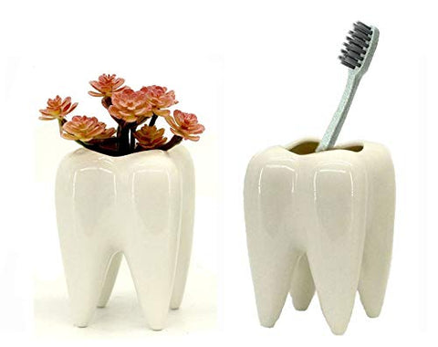 tooth shaped flower pot