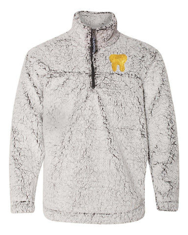 gold tooth dental fuzzy fleece sherpa