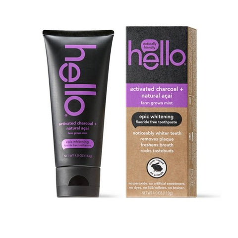 hello charcoal acai toothpaste