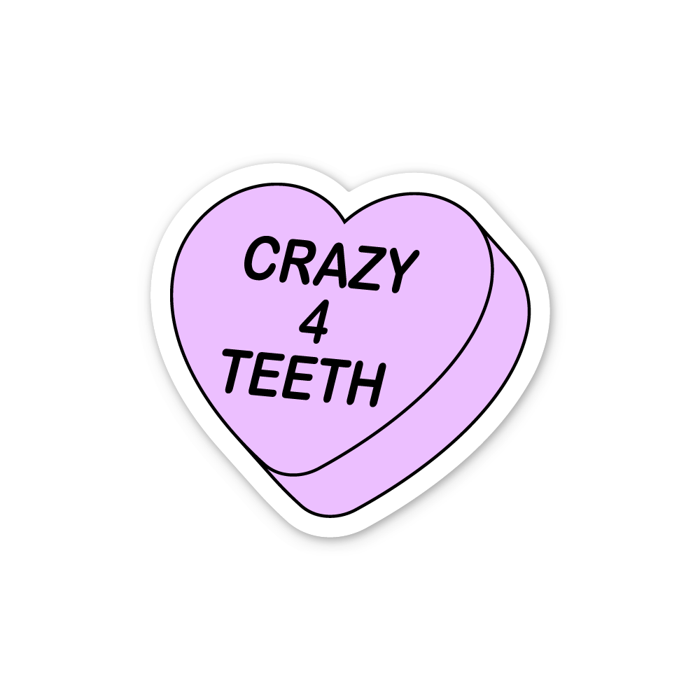 Crazy 4 Teeth Sticker
