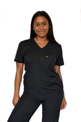 Black dental Scrub top