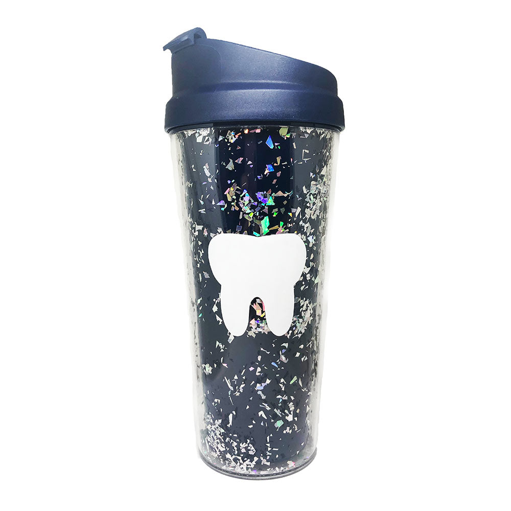 Glitter Tooth Travel Mug