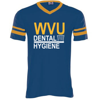 WVU BRUSH Football Short Sleeve V-Neck