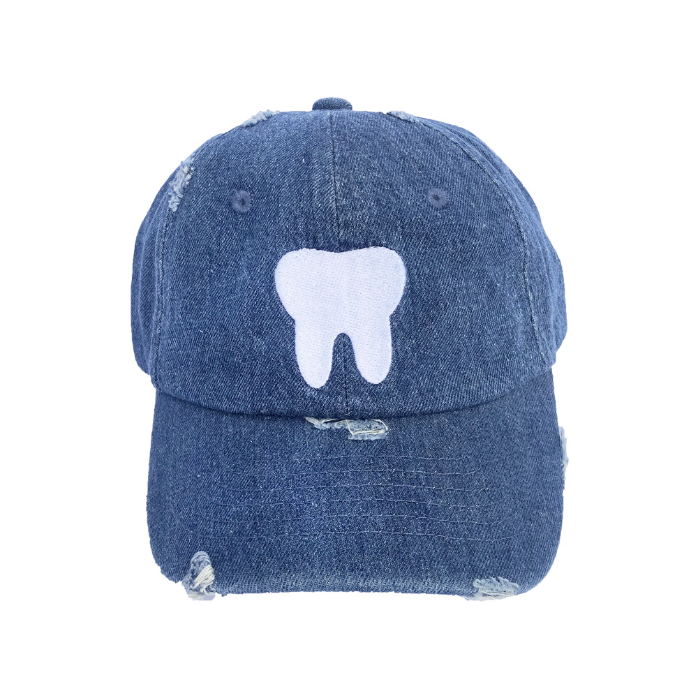 Denim Distressed Baseball Hat