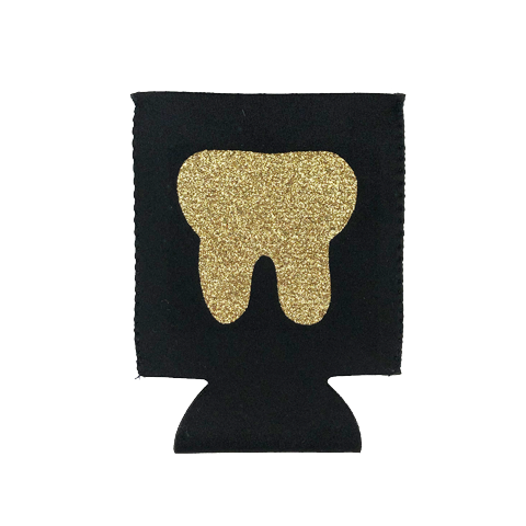 gold tooth koozie