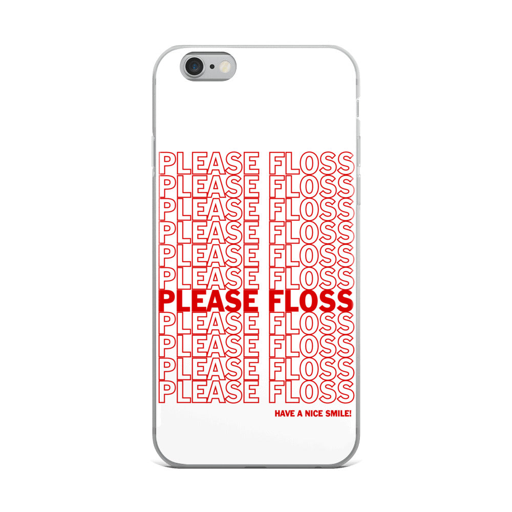 Please Floss iPhone Case