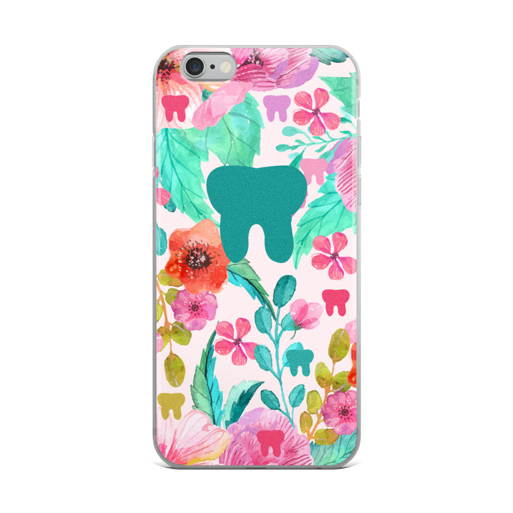 Floral Tooth iPhone Case