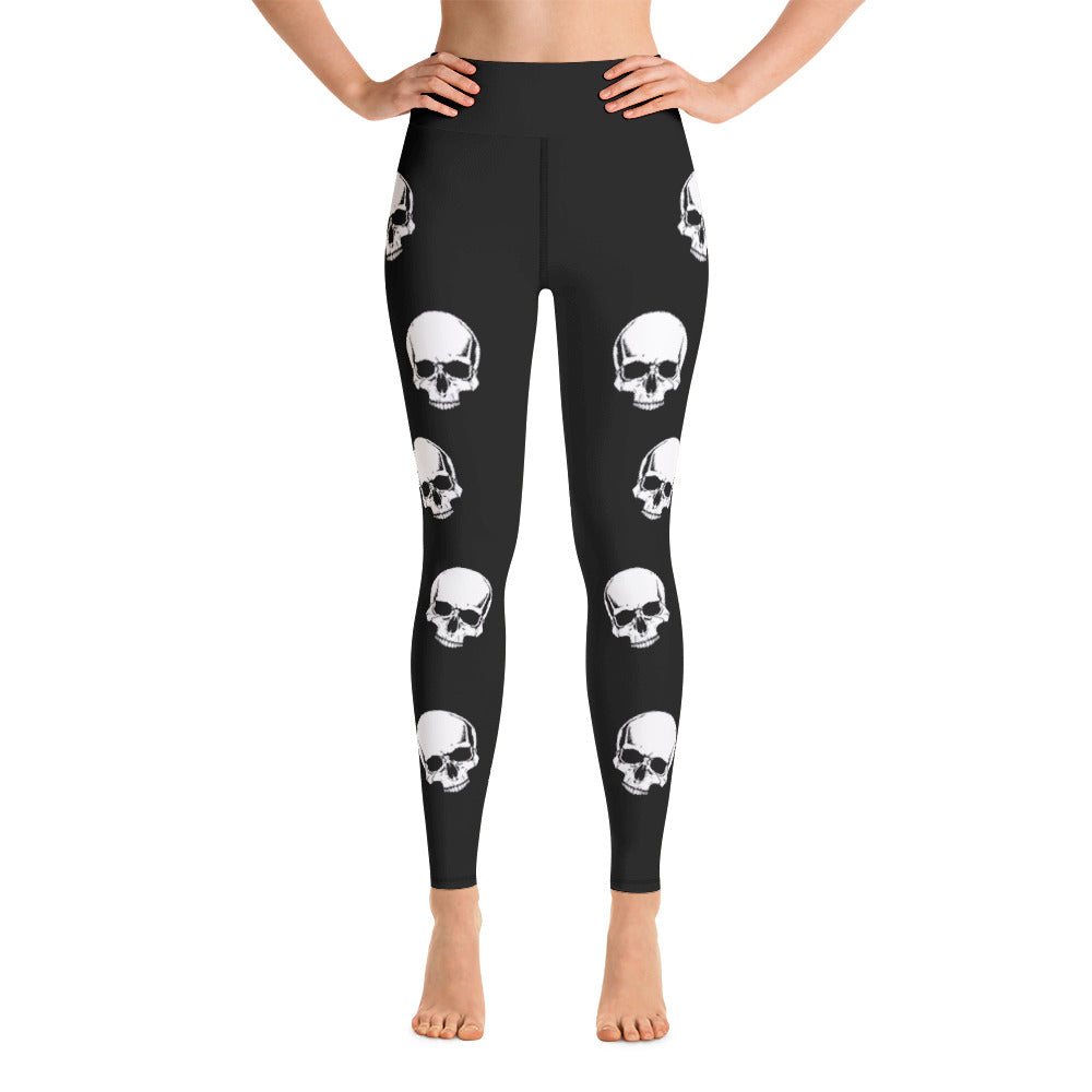 Skull Leggings - High Waisted