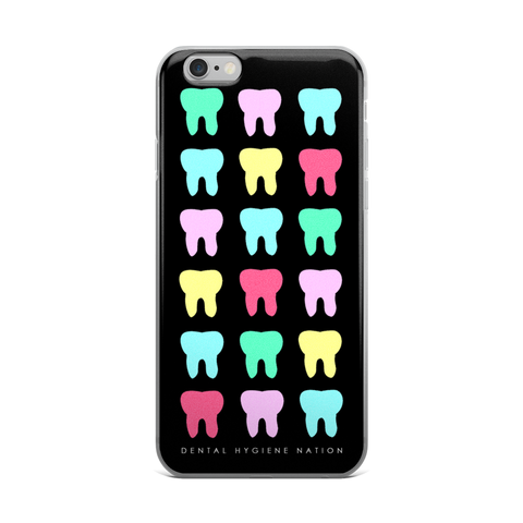 Toothy Black iPhone Case