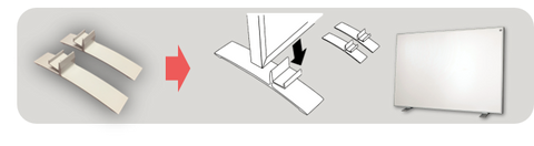 electric heater stand support