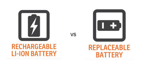 Rechargeable vs Replaceable Battery