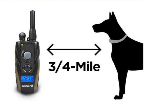 Illustrated Range Coverage Between Remote Training Collar and Dog
