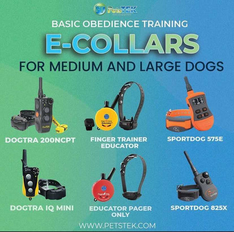 Remote Training Collars for Medium and Large Dogs