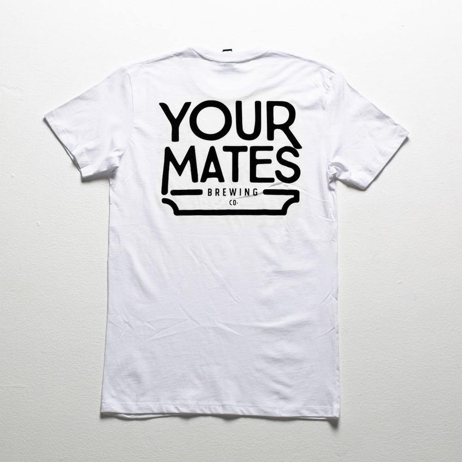 Classic Logo Tee | White & Black - Your Mates Brewing