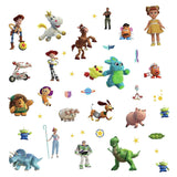 New TOY STORY 4 Wall Decals 38 Peel & Stick DISNEY Licensed Stickers Decor