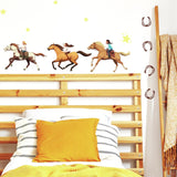 SPIRIT RIDING FREE Peel & Stick 36 Wall Decals Horses Pony Home Decor Removable Wall Stickers - EonShoppee
