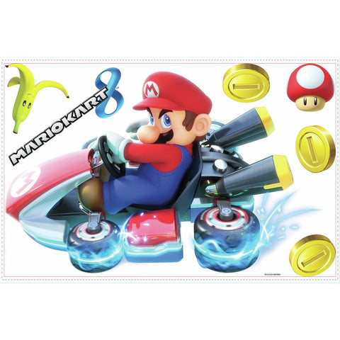Licensed Nintendo Giant MARIO KART 8 Wall Decals Room Decor Stickers Video Game COINS NEW