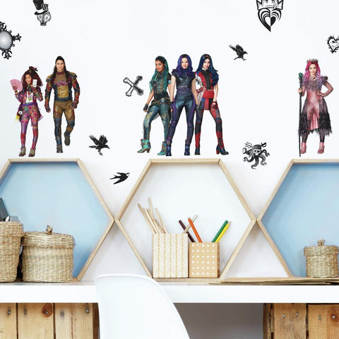 Disney DESCENDANTS 3 Peel And Stick Wall Decals Mal Evie Audrey Room Stickers