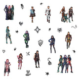 Disney DESCENDANTS 3 Peel And Stick Wall Decals Mal Evie Audrey Room Stickers - EonShoppee