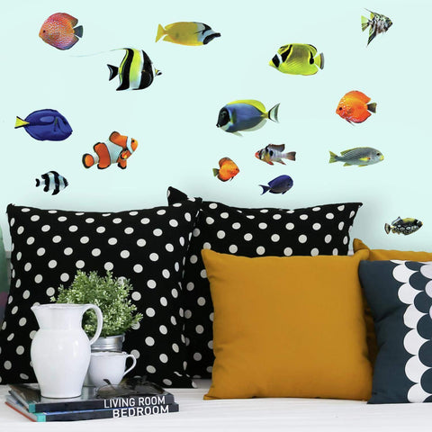 Tropical Fish Peel And Stick Wall Decals Sea Ocean Fish Stickers - EonShoppee