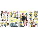 DESPICABLE ME 2 MOVIE 31 WALL DECALS Gru & Minions Peel & Stick Stickers Kids Room Decor
