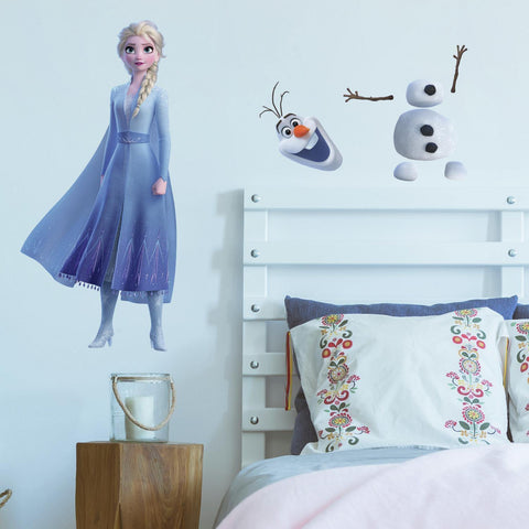 Frozen 2 Elsa and Olaf Giant 26 Wall Decals Latest Frozen II Room Decor Wall Stickers - EonShoppee