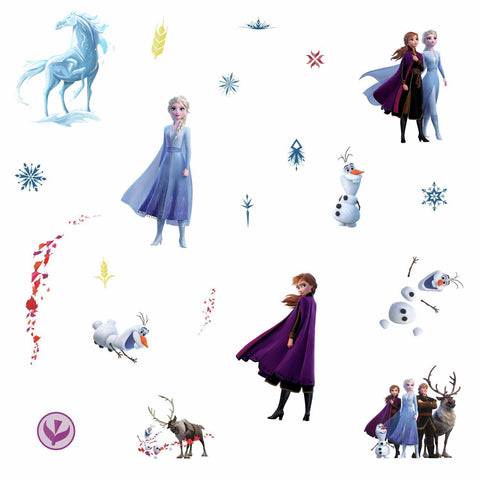 Frozen 2 II Peel & Stick 21 Wall Decals Girls Room Decor ELSA ANNA OLAF Stickers