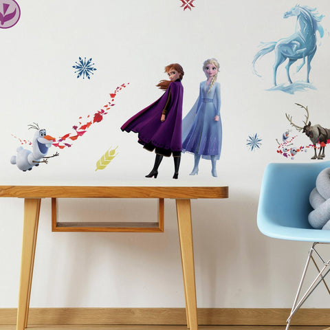 Frozen 2 II Peel & Stick 21 Wall Decals Girls Room Decor ELSA ANNA OLAF Stickers - EonShoppee