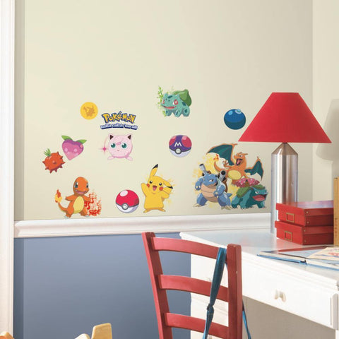 Iconic Pokemon Wall Decals Pikachu Pokeball Room Decor Stickers
