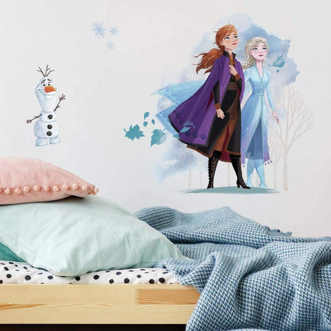 Frozen II Peel & Stick Giant Wall Decals Girls Room Decor Frozen Stickers - EonShoppee