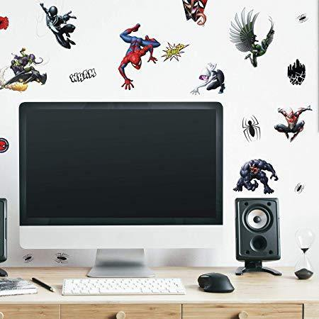 Marvel Spider-Man Favorite Characters Peel And Stick Wall Decals - EonShoppee
