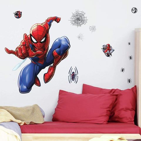 New Licensed Marvel Spider-Man Favorite peel & stick Giant Wall Decals 18 kids room stickers