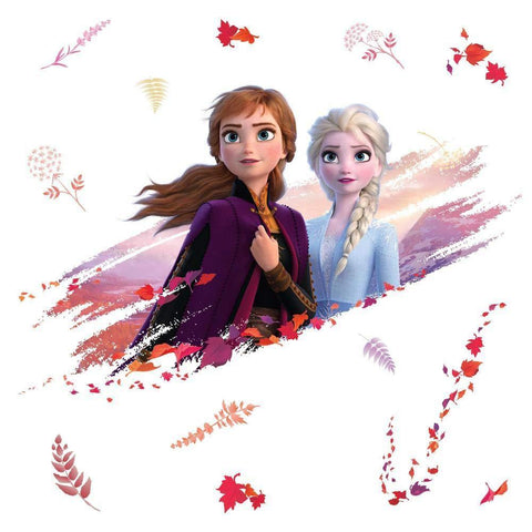 Disney Frozen 2 Anna and Elsa Peel & Stick Giant Wall Decals 15 Girls Room Frozen Stickers - EonShoppee