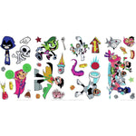 Disney Teen Titans GO! Peel and Stick 30 Wall Decals - Robin, Beast Boy, Cyborg Super Heroes Stickers - EonShoppee