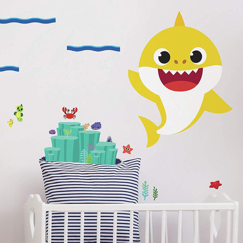 Baby Shark Peel & Stick Giant Wall Decals - EonShoppee