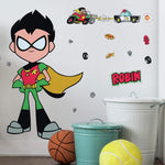 "Disney Teen Titans GO! Robin Peel and Stick 41 "" Tall Giant 24 Wall Decals Hero Stickers"
