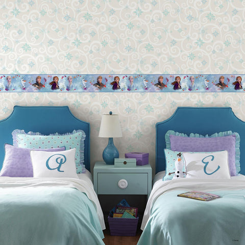 Disney Frozen 2 Peel & Stick Wallpaper Border Removable Kids Room Decor Border - EonShoppee