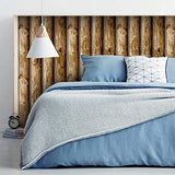 Rustic Lake Forest look Cabin Logs Peel & Stick Wallpaper - 16.5 feet long - EonShoppee