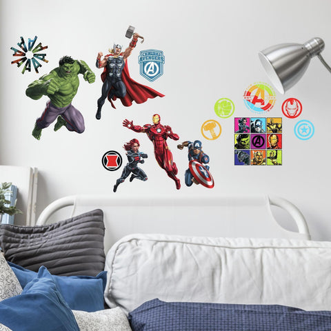 Classic Avengers Peel and Stick Wall Decals
