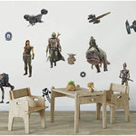 The Mandalorian Peel & Stick 20 Wall Decals - Star Wars Characters Wall Decor Kids Room Stickers